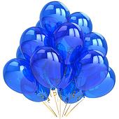 Blue cyan birthday balloons