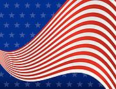 Stars and Stripes Red White and Blue Background