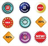 Set of badges and price tags, sale