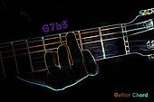 Guitar chord on a dark background
