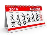 Calendar August 2016.
