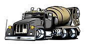 Cement Truck Illustration