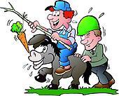 Supervisor pushes a Donkey
