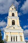 The bell tower of Holy Trinity Seraphim-Diveevo monastery, Russia