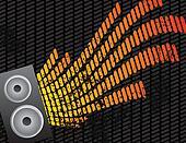 Speaker and Equalizer Audio Background