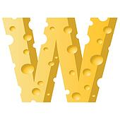 cheese letter W