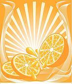 range background with the orange
