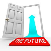 The Future - Door Mat Open Door Arrow