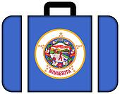 Suitcase with Minnesota State Flag