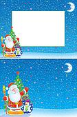 Christmas border and background