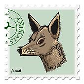 stamp with jackal