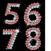 Set of diamond alphabetic figure. Vector (2)
