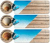 Three Sea Holiday Banners - N2