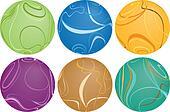 Six Swirly Balls