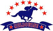 horse jockey racing Melbourne Australlia