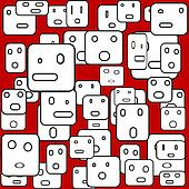 Background with square faces