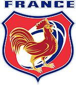 french rooster rugby ball france