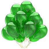 Bunch of green balloons