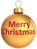 Merry Christmas golden bauble