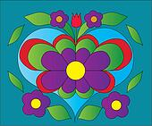 flower heart color illustration
