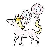 cartoon magical horse