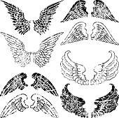 Grunge Angel Wings