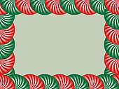 Red and Green Peppermint Border