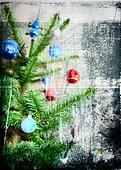 Grunge Christmas tree