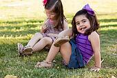 Little girl relaxing at a park