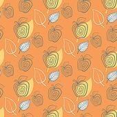 Seamless pattern with apple.Apple,yeelow,leaf.