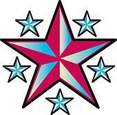 Tattoo Design Stars Clip Art