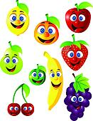 Funny fruit cartoon character