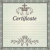 Certificate design in elegant style