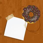 Empty Reminder With Chocolate Donuts