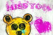 Sad bear MISS YOU