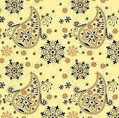 India ornament. Paisley seamless pr