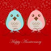 Happy Anniversary Two Love Birds