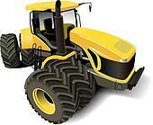 Yellow Modern Tractor