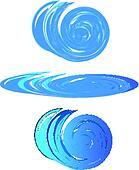 Blue water waves