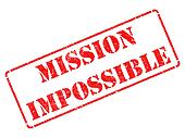 Mission Impossible -  Red Rubber Stamp.
