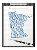 clipboard Minnesota map