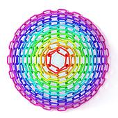 Colorful circles made of chain