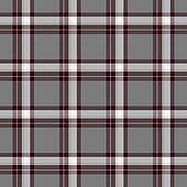 Traditional Scottish grey tartan pattern with claret stripe made seamless for kilt or bandana