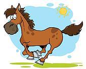 Galloping Cartoon Horse