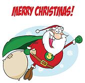 Greeting With Super Santa