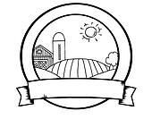 Outline Country Farm Banner