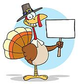Happy Thanksgiving Pilgrim Turkey