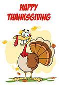 Greeting With Turkey Cartoon