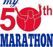 Marathon runner 50th race run