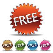free starburst label